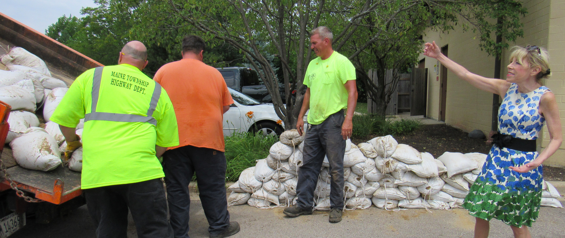 Highway Department Delivering Sandbags for Residents