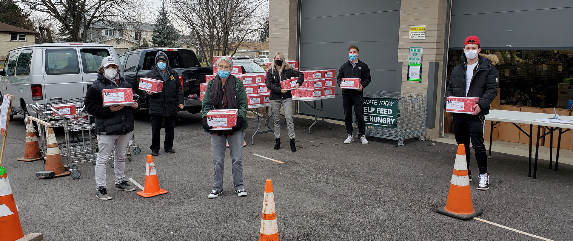 Maine Township Employees Assisting with Holiday Meal Distribution