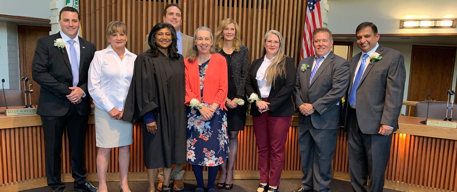 Maine Township Elected Officials at Oath of Office Ceremony